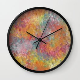 Colored clouds  Wall Clock