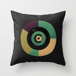 Circle Fibonacci.1 Throw Pillow