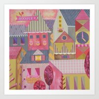 home sweet home Art Prints featuring home by Jill Howarth