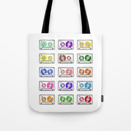 Rainbow Cassette Tapes Tote Bag