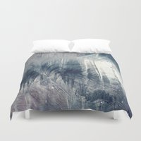 ashton irwin Duvet Covers featuring Dream in Grey by Adaralbion