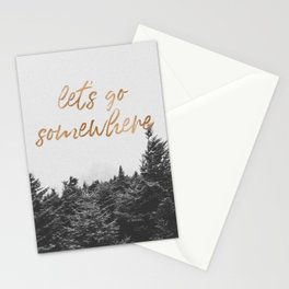 LETS GO SOMEWHERE Stationery Cards