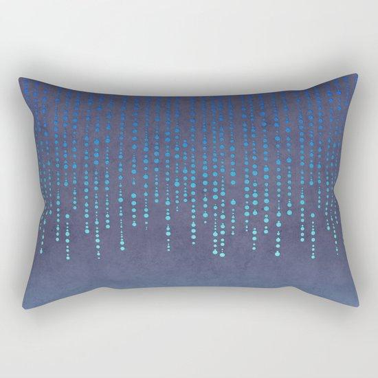 Dark Glamour blue elegant glitter Rectangular Pillow
