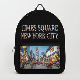 Times Square Sparkle (with type on black) Backpack