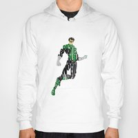 green lantern Hoodies featuring Green Lantern by Ayse Deniz