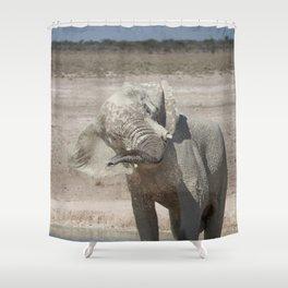Elephant 13 Shower Curtain