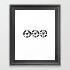 wheels 3x Framed Art Print