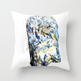 Kyanite crystall Gemstone Throw Pillow