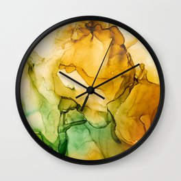 Turning Fall  - Abstract Ink Painting Wall Clock