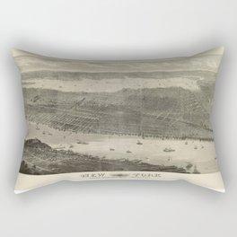New York 1876 Rectangular Pillow