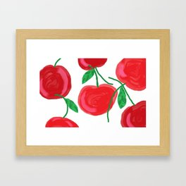 Cherries, The Cherry on top, big red round juiciness Framed Art Print