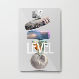 Level Metal Print