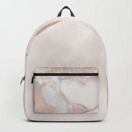 French polished rose gold marble & pearl Backpack