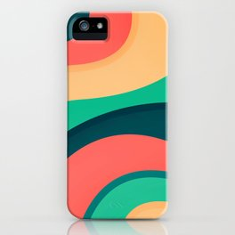 The river, abstract painting iPhone Case