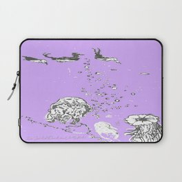 Two Tailed Duck and Jellyfish Purple Grape Laptop Sleeve