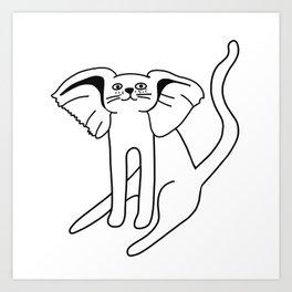 cat with elephant ears Art Print