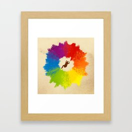 Color Wheel Framed Art Print