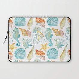 Sea theme watercolor print Laptop Sleeve