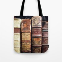 library Tote Bags featuring Library by Mad Marys
