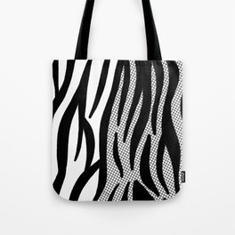 Timeless Zebra Pattern Abstract Tote Bag
