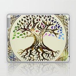 Tree of life  -Yggdrasil - Gold & Green  foil Laptop & iPad Skin
