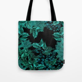Dark Forest (Emerald / Black) Tote Bag