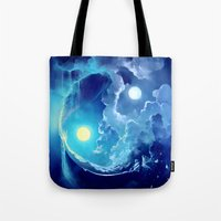 pocket fuel Tote Bags featuring Fuel for Life by Cyril ROLANDO