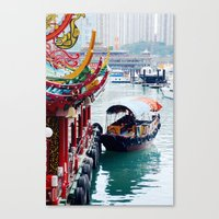 hong kong Canvas Prints featuring Hong Kong  by Juliette