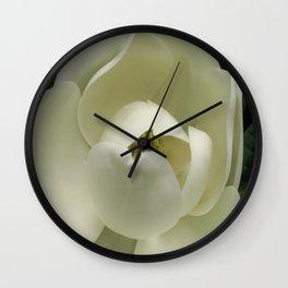 Fleur de Magnolia Wall Clock