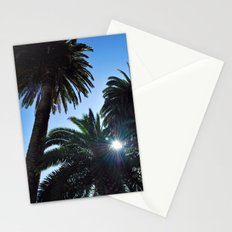 Ray of Sun through Palm Trees Stationery Cards