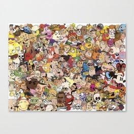 Cartoon Collage Canvas Print