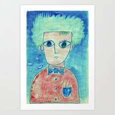 Grid boy Art Print