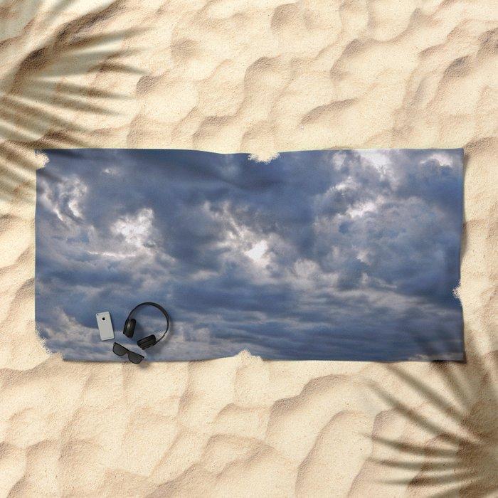 Dramatic Skies Over the Sea Beach Towel