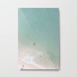 Summer Fun - Beach Football Metal Print
