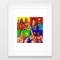 wrestling Framed Art Prints featuring Wrestling Superstars by VGPrints