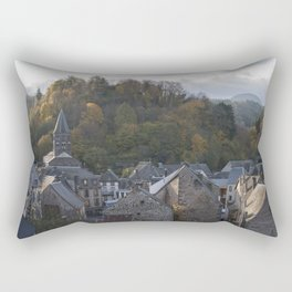 A small city in Auvergne, France. Rectangular Pillow