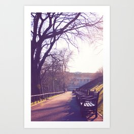 Edinburgh Princes Garden Sunset. Art Print
