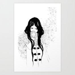 Flower Scarf Art Print