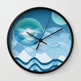 Sea Symphony in BLUE Wall Clock