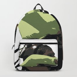 Going With The Wind Kiteboarding Vector Backpack