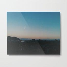 Moon on Edinburgh Metal Print