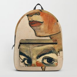 Egon Schiele - Self Portrait With Striped Shirt Backpack