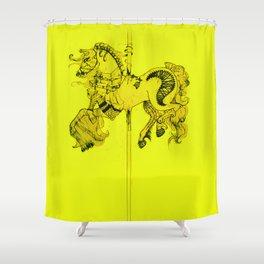 Lydia's Carousel Horse Shower Curtain