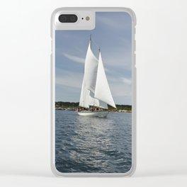 Schooner Martha Boat Sailboat Port Townsend Washington Sailing Northwest Sailor Regatta Clear iPhone Case