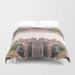 Chateau Photographic Pattern #1 Duvet Cover