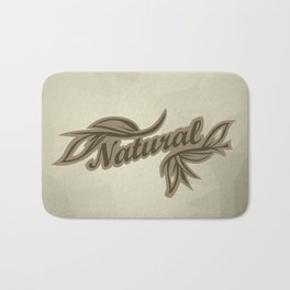sticker badge with the inscription sheet and Natural. in natural colors Bath Mat