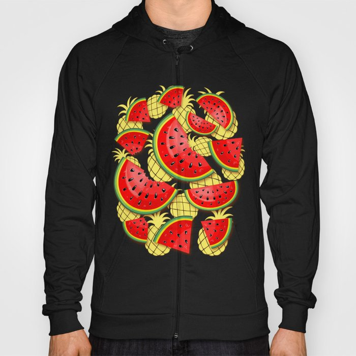 Watermelon and Pineapple Juicy Pattern Hoody
