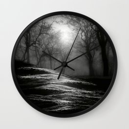 Black and White - From small beginnings and big endings Wall Clock