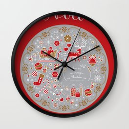 noel with love Wall Clock