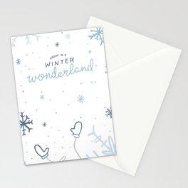 Walkin' In A Winter Wonderland Stationery Cards